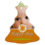 happy day - Christmas Tree Ornament (Two Sides)