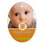 happy day - Oval Ornament (Two Sides)