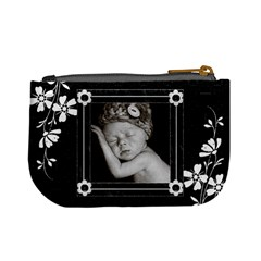 Black And White Mini Coin Purse By Lil    Mini Coin Purse   0glsl1fkjgxa   Www Artscow Com Back