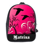 Hot pink swirl book bag - School Bag (Large)