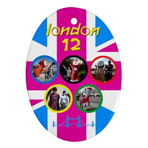My London Oval Ornament By Deborah   Ornament (oval)   O20b47e2300g   Www Artscow Com Front