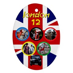 My London Oval Ornament (2 Sided) 2 By Deborah   Oval Ornament (two Sides)   Ce4p9nfq4wwx   Www Artscow Com Back