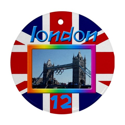 London 12 Round Ornament By Deborah   Ornament (round)   Wea4z35b8mgw   Www Artscow Com Front