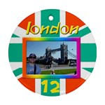 My London 2 Round Ornamant (2 sided) - Round Ornament (Two Sides)