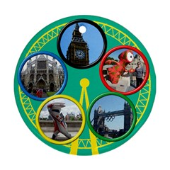 My London  Round Ornament (2 Sided) By Deborah   Round Ornament (two Sides)   Pwsm0rbe3u2m   Www Artscow Com Front