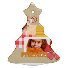 Friends By Joely   Christmas Tree Ornament (two Sides)   5vbiuoeiuib0   Www Artscow Com Front