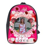 Hearts and Roses large bookbag - School Bag (Large)