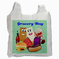 Food Grocery Recycle Bag Two Sides By Kim Blair   Recycle Bag (two Side)   Jscg0om9h3b6   Www Artscow Com Front