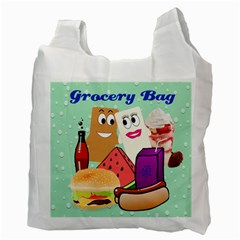 Food Grocery Recycle Bag Two Sides By Kim Blair   Recycle Bag (two Side)   Jscg0om9h3b6   Www Artscow Com Back