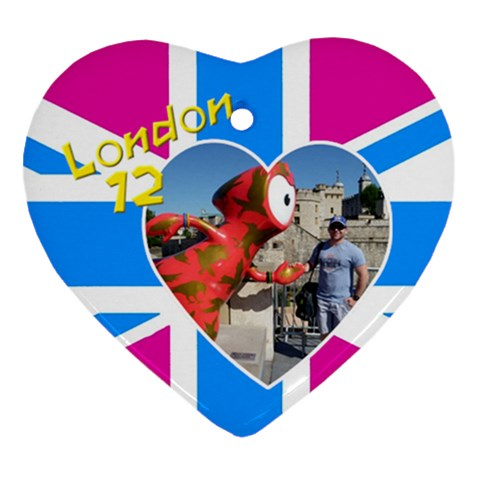 London Heart Ornament By Deborah   Ornament (heart)   L17vtvbd2ssh   Www Artscow Com Front