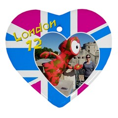 London Heart Ornament (2 Sided) By Deborah   Heart Ornament (two Sides)   1d9rgx7heksf   Www Artscow Com Back