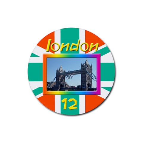 London 12 Coaster By Deborah   Rubber Coaster (round)   Hsy8bpcf0wsr   Www Artscow Com Front