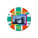London 12 Coaster - Rubber Coaster (Round)