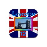 London 12 Coaster - Rubber Coaster (Square)