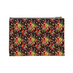 Cherry Jubilee Large Cosmetic Case By Leandra Jordan   Cosmetic Bag (large)   W5cksoq1cslw   Www Artscow Com Back