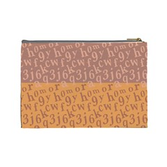 Abc Large Cosmetic Case By Leandra Jordan   Cosmetic Bag (large)   Xmpyc2xgjar1   Www Artscow Com Back