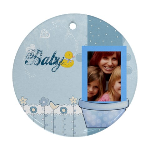 Baby By Jacob   Ornament (round)   N2t9e53yskn6   Www Artscow Com Front