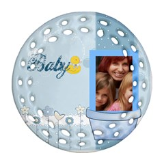 Baby By Jacob   Round Filigree Ornament (two Sides)   Dckzxo9tak5e   Www Artscow Com Front