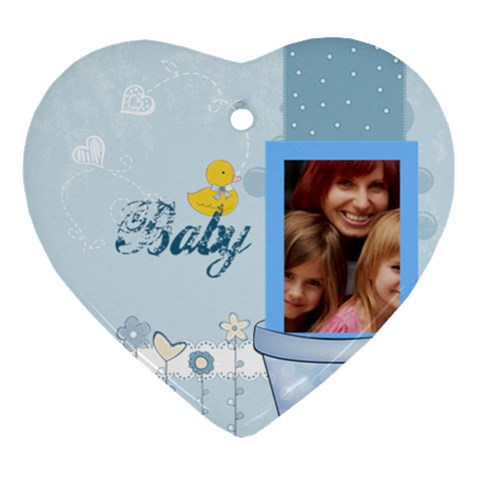Baby By Jacob   Ornament (heart)   Uw6shy1a1q3l   Www Artscow Com Front