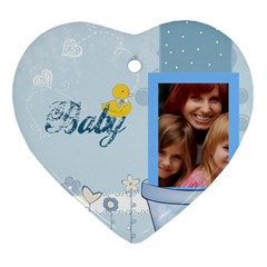 Baby By Jacob   Heart Ornament (two Sides)   S2weo2ztv2hq   Www Artscow Com Front