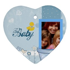Baby By Jacob   Heart Ornament (two Sides)   S2weo2ztv2hq   Www Artscow Com Back