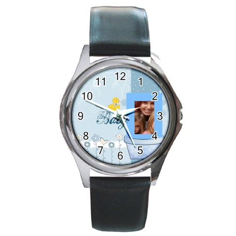 Baby By Jacob   Round Metal Watch   2firt2h3v5y4   Www Artscow Com Front
