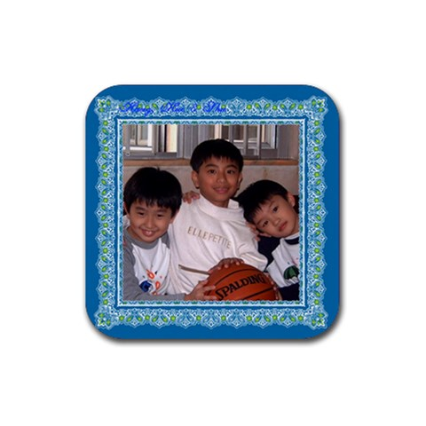 Hung3 Coaster By Lee Suk Ling   Rubber Coaster (square)   52kpfml12ygn   Www Artscow Com Front