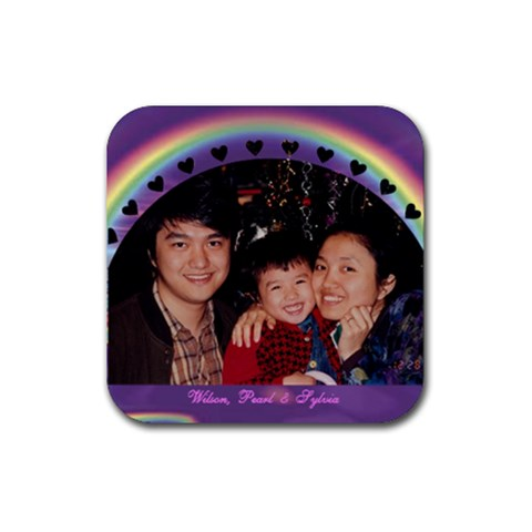 Wilson  Coaster By Lee Suk Ling   Rubber Coaster (square)   Dwyaq96dlysf   Www Artscow Com Front