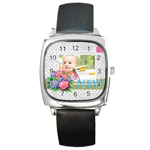 Baby By Joely   Square Metal Watch   0yqcevuxjmwt   Www Artscow Com Front