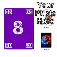 Ace Numbers Deck   Purple(all) Orange(all) Red(8 0)   Textless Poker Deck By Mike   Playing Cards 54 Designs   Rdlhl25klzyq   Www Artscow Com Front - SpadeA