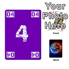 Numbers Deck   Purple(all) Orange(all) Red(8 0)   Textless Poker Deck By Mike   Playing Cards 54 Designs   Rdlhl25klzyq   Www Artscow Com Front - Heart5