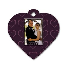 Anniversary Dog Tag By Patricia W   Dog Tag Heart (two Sides)   Bfz9fcqvjl2y   Www Artscow Com Front