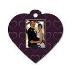 anniversary dog tag - Dog Tag Heart (Two Sides)
