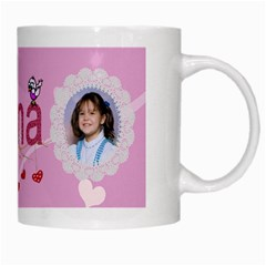 Nana White Mug By Kim Blair   White Mug   B5x66knv95dp   Www Artscow Com Right