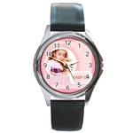 baby girl - Round Metal Watch