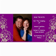 Save The Date By Renee   4  X 8  Photo Cards   B7f9oykdyycb   Www Artscow Com 8 x4 Photo Card - 50