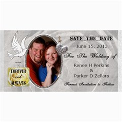 Save The Date  By Renee   4  X 8  Photo Cards   Rahu0e8089c1   Www Artscow Com 8 x4 Photo Card - 2