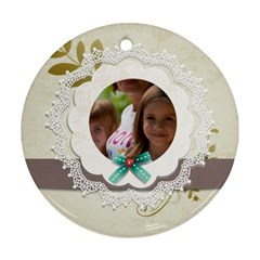 Kids By Jacob   Round Ornament (two Sides)   Ep4ydqvjv6lh   Www Artscow Com Front