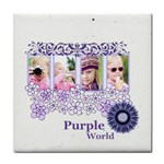 purple world - Tile Coaster