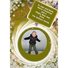 Christmas Circle 3d Card By Deborah   Circle Bottom 3d Greeting Card (7x5)   11r5h72feqcg   Www Artscow Com Inside