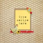 Recipe Scrapbook Page 2 - ScrapBook Page 12  x 12