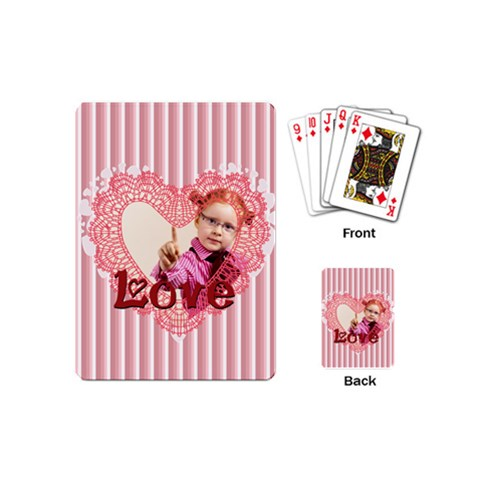 Love By Joely   Playing Cards (mini)   5i4j6e1kxkih   Www Artscow Com Back
