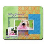 happy time - Large Mousepad