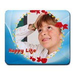 happy life - Large Mousepad