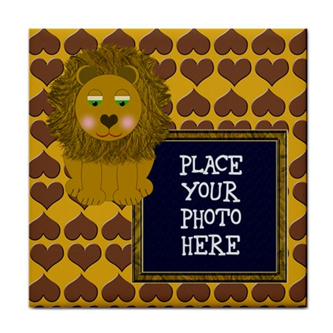 Lion Tile Coaster By Chere s Creations   Tile Coaster   Os5al4rf2r0r   Www Artscow Com Front