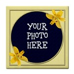 Yellow Lily Tile Coaster
