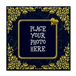 Gold and Blue Tile Coaster