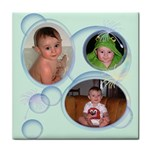 Bubbles Tile Coaster 3