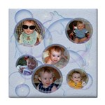 Bubbles Tile Coaster 4