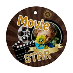 Movie By M Jan   Round Ornament (two Sides)   Tzmpiqkebym9   Www Artscow Com Back
